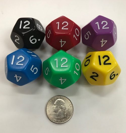 d12 Jumbo Dice Group Koplow - 12 Sided - DiceEmporium.com