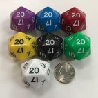 d20 Jumbo Dice Group Koplow - 20 Sided - DiceEmporium.com