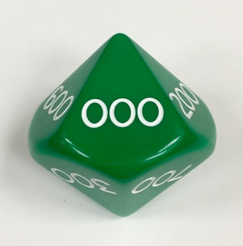 Hundreds Green Jumbo Place Value Die Product Number 15886