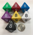 d8 Jumbo Dice Group Koplow - 8 Sided - DiceEmporium.com