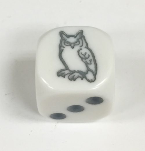 6 Sided Grey Owl Die Product Number 18706