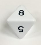 8 Sided Jumbo White Die Product Number 04798