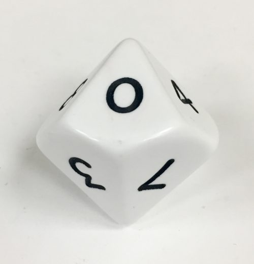 10 Sided Jumbo White Die Product Number 04802