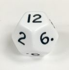 12 Sided Jumbo White Die Product Number 04806