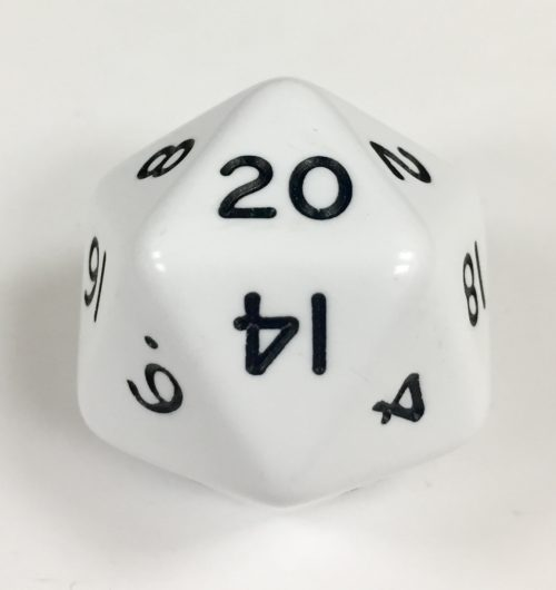 20 Sided Jumbo White Die Product Number 04810
