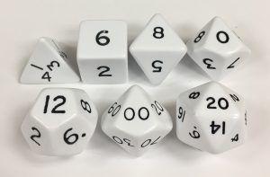 7 Piece White Jumbo Set