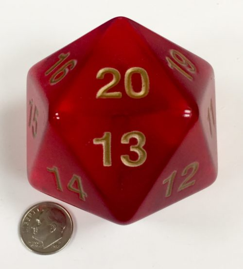 55mm Transparent Red Jumbo Die Product Number 17967