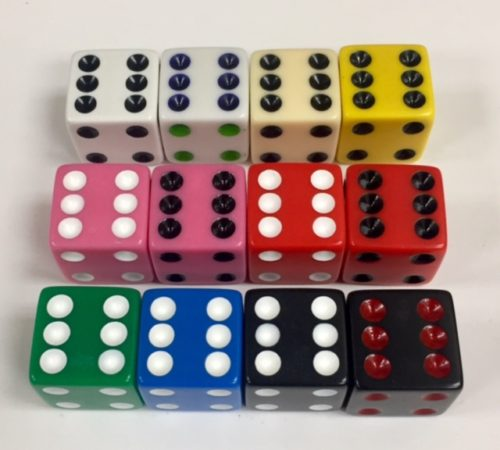 16mm Square Corner Dice