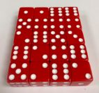 16mm Red Square Corner Dice Set