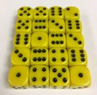 16mm Yellow Round Corner Dice Set