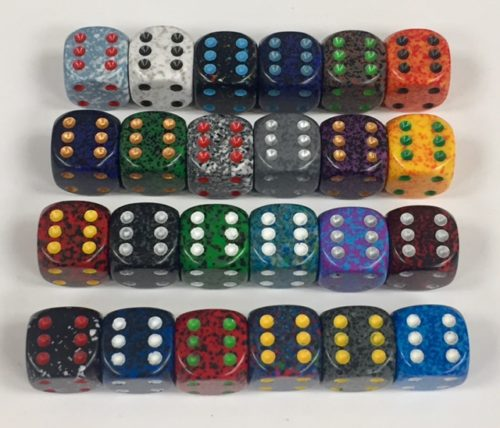 12mm 6 Sided Speckled Dice