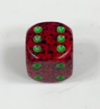 12mm 6 Sided Strawberry Speckled Dice