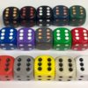 16mm D6 Dice with Pips