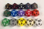 20 Sided Opaque Dice with Numbers