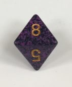 8 Sided Hurricane Speckled Dice