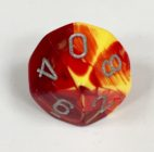 10 Sided Red-Yellow/silver Gemini Dice