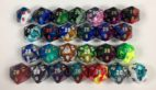20 sided Gemini dice with numbers are available in 26 different color combinations.