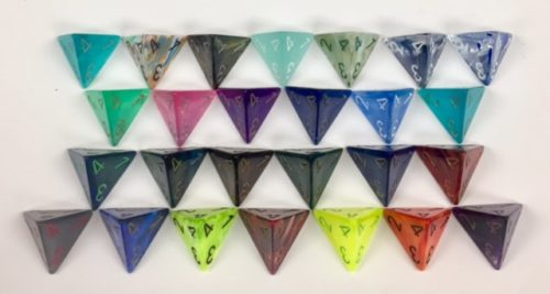 4 Sided Signature Dice available in 26 different colors