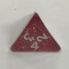 d4 4 Sided Glitter Red Koplow Dice - DiceEmporium.com