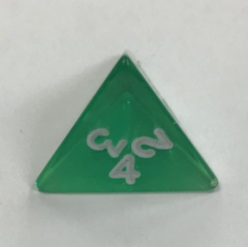 d4 Clear Green Koplow Dice - DiceEmporium.com