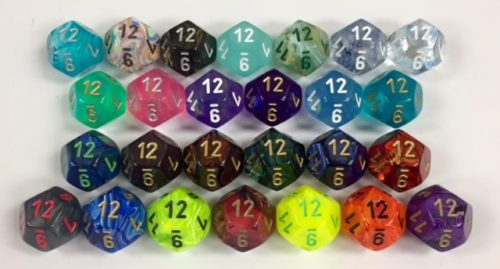 12 Sided Signature Dice available in 26 different colors