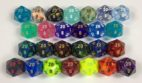 20 Sided Signature Dice available in 26 different colors