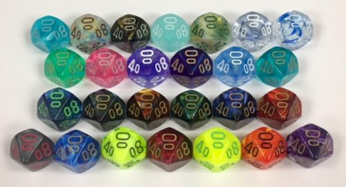10 Sided Tens 10 Signature Dice available in 26 different colors