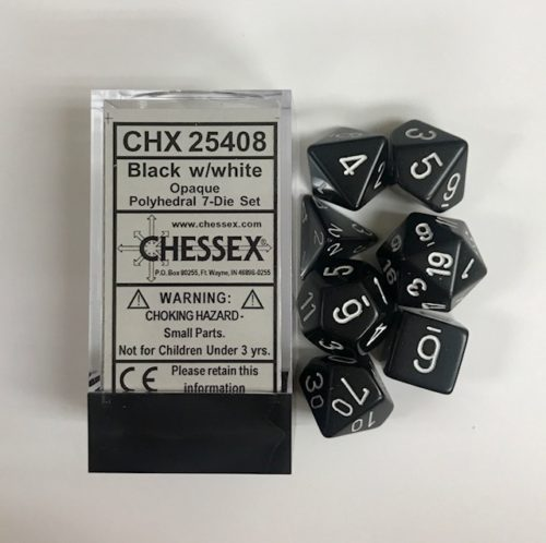 Black-White-Chessex-Dice-CHX25408