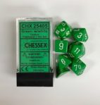 Green-White-Chessex-Dice-CHX25405