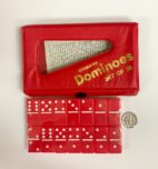 Red Baby Dominoes - Double 6 - Set of 28