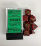 Strawberry-Speckled-Chessex-Dice-CHX25304