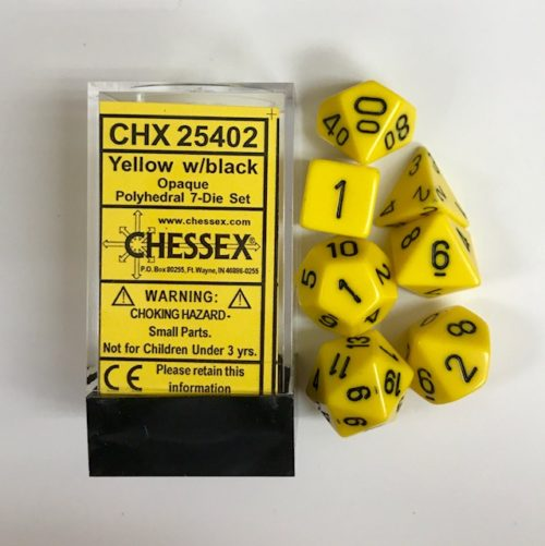 Yellow-Black-Chessex-Dice-CHX25402