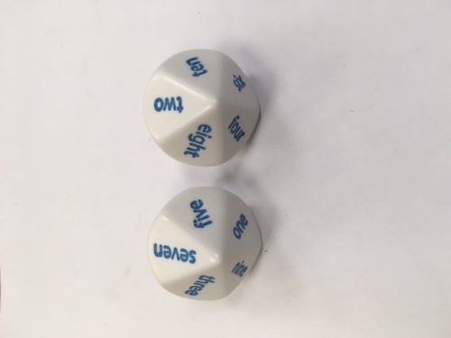 10 Sided English Language Dice