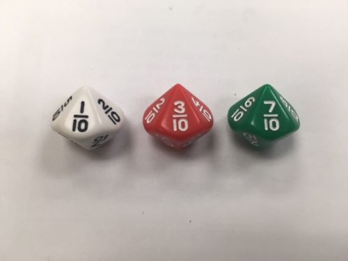 10 Sided Math Fraction Dice