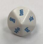 d10 10 Sided Word Number Dice - DiceEmporium.com