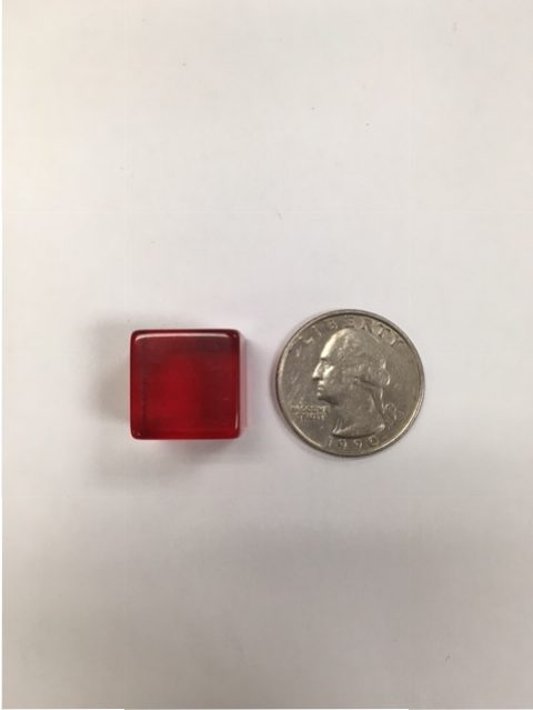 16mm 6 Sided Red Transparent Dice