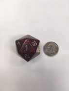34mm 20 Sided Silver Volcano Speckled Dice