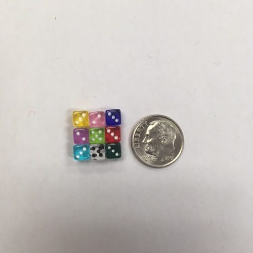 5mm Transparent Dice Set