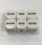 6 Sided Weights Dice - DiceEmporium.com