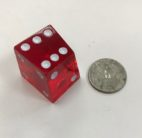Red Translucent Crooked Dice - DiceEmporium.com