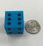"d6-foam-dice-1""-blue-black"