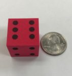 "d6-foam-dice-1""-red-black"