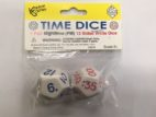 Pair of White 12 Sided Time Dice