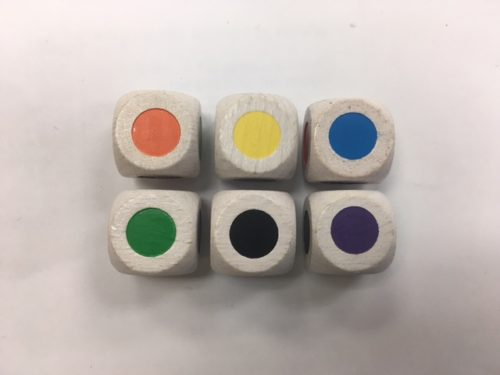 16mm Color Spot Wood Dice