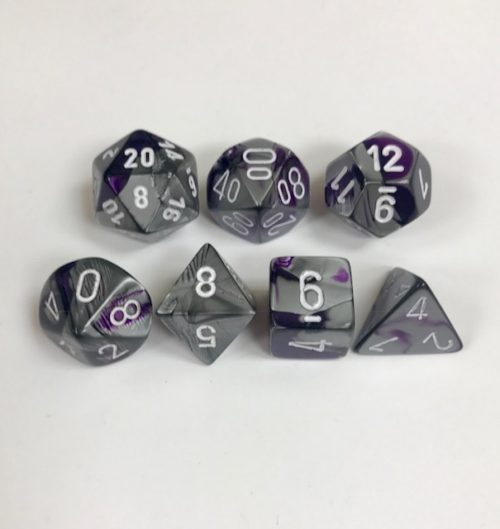 Purple-Steel-White-Gemini-Chessex-Dice-CHX26432