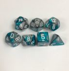 Steel-Teal-White-Gemini-Chessex-Dice-CHX26456