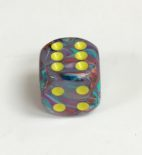 Signature 16mm Festive Mosaic/yellow Dice