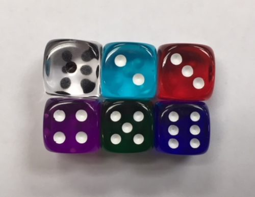 12mm Deluxe Transparent Set - DiceEmporium.com