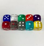 12mm Transparent Set Dice - DiceEmporium.com