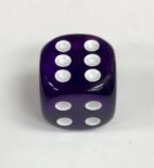 16mm Transparent Purple/white Dice